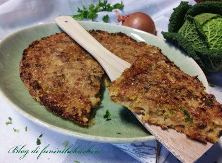 Torta salata con cipolla e verza